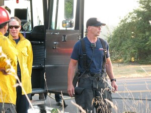 SETFA Fire Captain Eric Hetland (left) and SETFA Firefighter Tony Brosco (right).