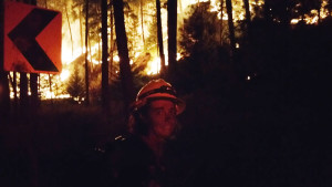 Lt. Ann Holeman- S.E. Thurston Wildland mobilization coordinator working a fire near Spokane, Washington